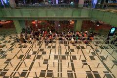 Singapour : File d'attente de taxi Photo libre de droits