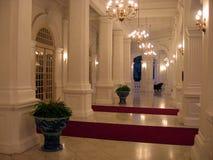 Singapour. Hall d'entrée d'hôtel Photographie stock libre de droits