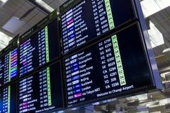 SINGAPOUR - 8 JANVIER 2017 : Aéroport international Singapour de Changi de conseil de départ Images libres de droits