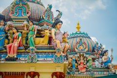 SINGAPOUR, SINGAPOUR - 30 JANVIER 2018 : Plan rapproché de temple hindou de Sri Mariamman à Singapour Photos stock