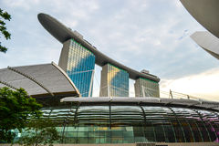 SINGAPOUR - 26 JUILLET :    Marina Bay Sands Resort Hotel sur Ju Photo stock