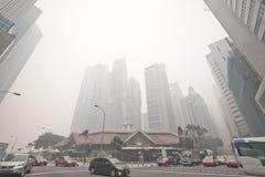 Singapour - 21 juin 2013 - brume de Singapour frappe le scrutin le plus élevé Images libres de droits