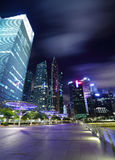 Singapour la nuit Photos stock