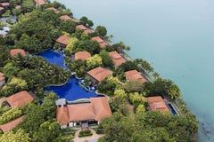 SINGAPOUR, LE 10 DÉCEMBRE 2017 : Station de vacances de pavillon d'île de Sentosa Image stock