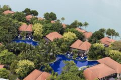 SINGAPOUR, LE 10 DÉCEMBRE 2017 : Station de vacances de pavillon d'île de Sentosa Photo libre de droits