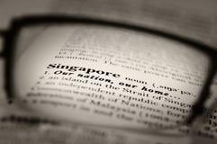 Singapour notre nation Photo libre de droits