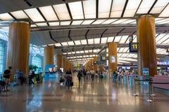 Singapour - 19 novembre 2017 : Aéroport international Ter de Changi Photographie stock libre de droits