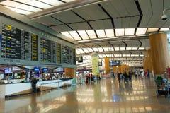 Singapour - 19 novembre 2017 : Aéroport international Ter de Changi Image libre de droits