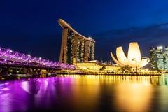 SINGAPOUR - 22 NOVEMBRE 2016 : Marina Bay Sands Resort Hotel sur N Photo libre de droits