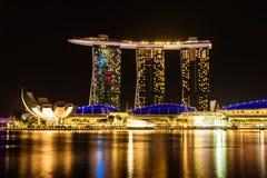 SINGAPOUR - 22 NOVEMBRE 2016 : Marina Bay Sands Resort Hotel sur N Image libre de droits