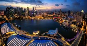 Singapour panoramique Photographie stock libre de droits