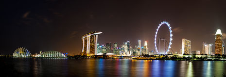 Singapour par nuit Photo stock