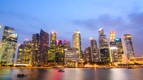 Singapour par nuit Image libre de droits