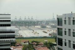 Singapour : Port, conteneurs Image libre de droits