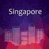 Singapour pour la bannière, affiche, illustration, jeu, fond photo stock