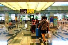 Singapour : Rentrer à la maison Photos libres de droits