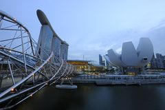 Singapour - sables de compartiment de marina Photo stock
