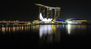 Singapour - sables de compartiment de marina Photographie stock libre de droits