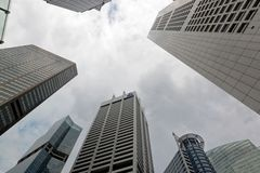 Singapour Skyscrappers Images libres de droits