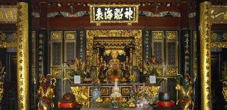 Singapour - temple de Chinois de Keng de vin du Rhin de Thian Photo libre de droits