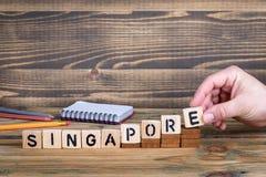 Singapour, une ville où beaucoup de millions de personnes vivent Centre d'affaires et d'économie Photo stock