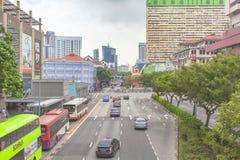 SINGAPPORE- 2 de enero de 2017: Opinión de la calle de Chinatown en Singapo Fotos de archivo libres de regalías