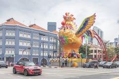 SINGAPPORE- 2 de enero de 2017: Opinión de la calle de Chinatown en Singapo Foto de archivo