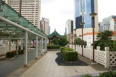 SINGAPPORE- 2 de enero de 2017: Opinión de la calle de Chinatown en Singapo Fotografía de archivo libre de regalías