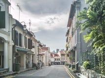 SINGAPPORE- 2 de enero de 2017: Opinión de la calle de Chinatown en Singapo Imágenes de archivo libres de regalías