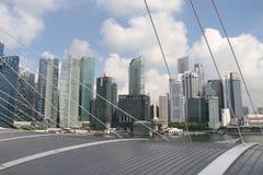 Singapur über dem Dach Lizenzfreies Stockbild
