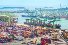 Singapur ładunku wysyłki portu schronienie obraz royalty free