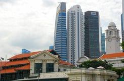 Singapur śródmieścia pejzaż miejski Fotografia Stock
