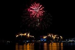 2016-07-02 Singapur święta państwowego fajerwerków pokazu próba Zdjęcia Stock