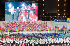 Singapur święta państwowego parada 2013 Fotografia Royalty Free