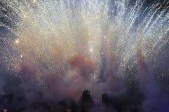 Singapur światła przedstawienie przy Sentosa Fotografia Stock