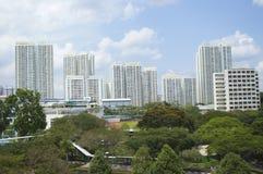 Singapur światła widok Zielony miasto Obraz Royalty Free