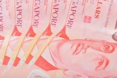 Singapur 10 Dollar-Anmerkungen Lizenzfreies Stockfoto