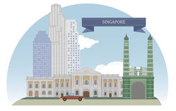 Singapur ilustración del vector