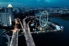 Singapur-Ansicht Lizenzfreie Stockfotografie