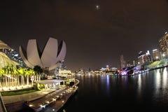 Singapur, Ansicht der Bucht von Marina Bay Stockbild