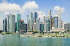 Singapur - APRIL 7,2017: Zentrales Geschäftsgebiet CBD lizenzfreie stockfotos