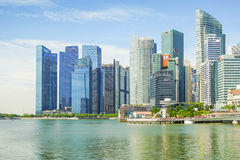 Singapur - APRIL 7,2017: Zentrales Geschäftsgebiet CBD stockfotografie