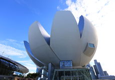 SINGAPUR: Art Science Museum On October 20, 2014 en Bayfront, Foto de archivo
