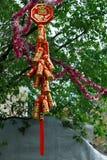 SINGAPUR, ASIA - 3 DE FEBRERO: Decorati chino festivo del Año Nuevo Fotografía de archivo libre de regalías