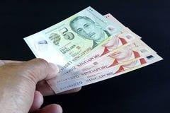 Singapur-Banknoten Stockfoto
