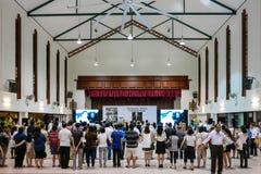 Singapur beklagt das Überschreiten von Herrn Lee Kuan Yew Stockfotos