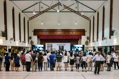 Singapur beklagt das Überschreiten von Herrn Lee Kuan Yew Lizenzfreie Stockbilder