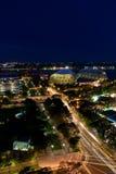Singapur bis zum Nacht Stockfoto