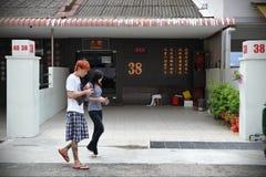 Singapur-Bordell Stockfotografie
