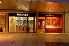 Singapur: Boutique de Breguet fotos de archivo